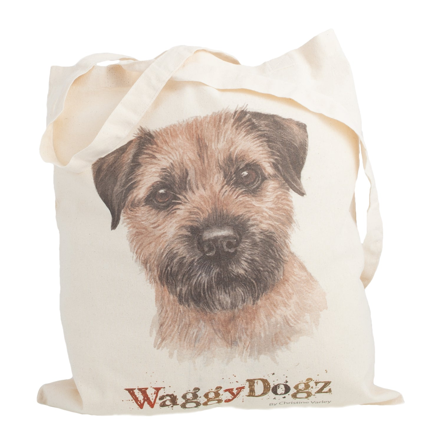 Dog Lover Gifts available at Dog Krazy Gifts. Border Terrier Tote Bag, part of our Christine Varley collection – available at www.dogkrazygifts.co.uk