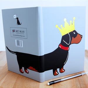 Dog Lover Gifts available at Dog Krazy Gifts - Florence The Dachshund A5 Notepad - part of the Sweet William range available from DogKrazyGifts.co.uk
