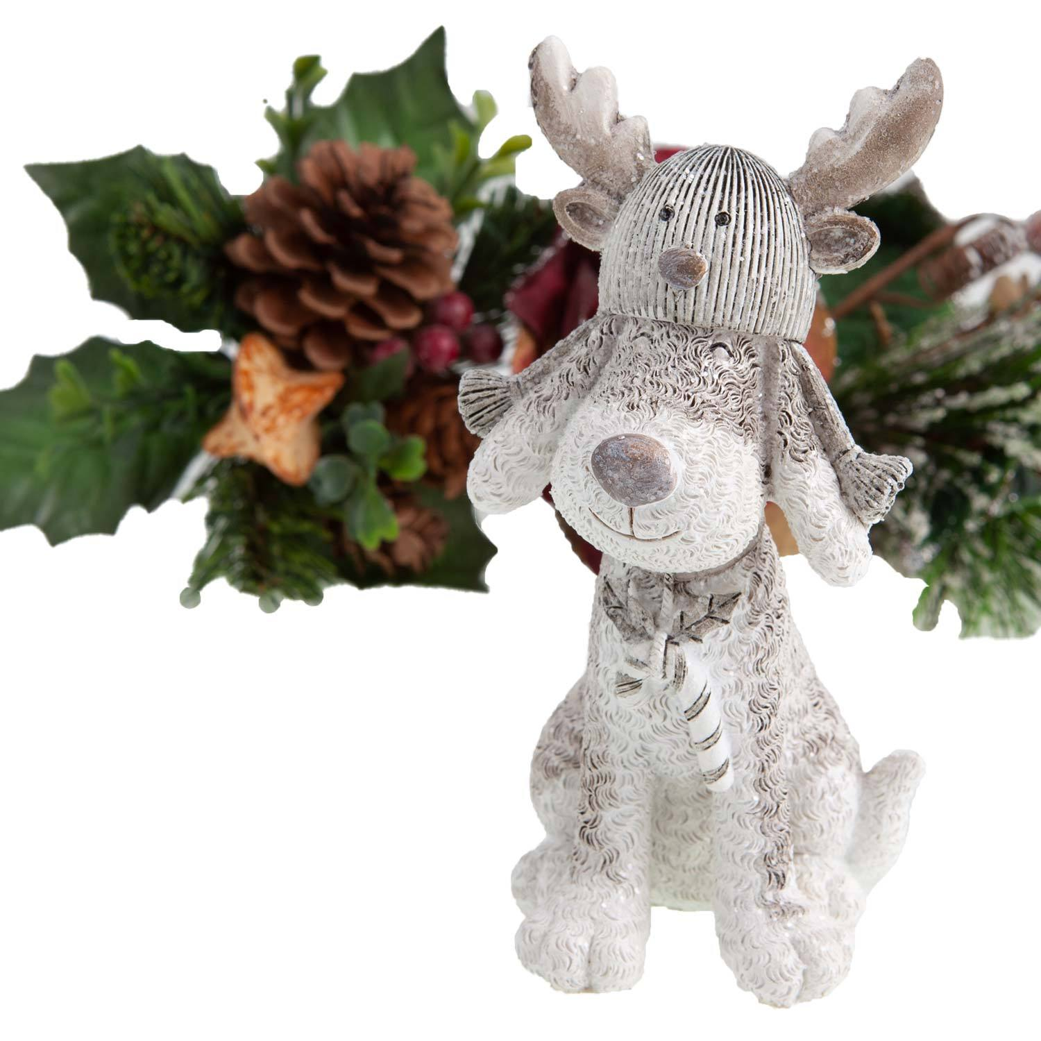 Dog Krazy Gifts - Dog in Reindeer Hat Christmas Decoration - available from the Christmas Grotto at DogKrazyGifts.co.uk