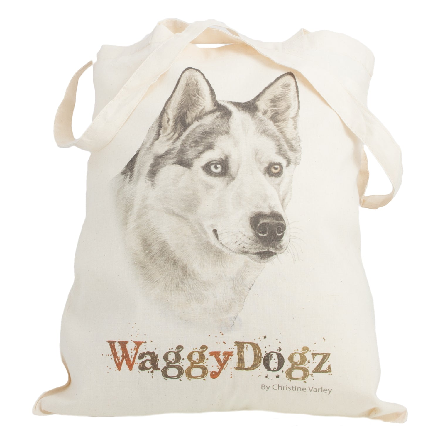 Dog Lover Gifts available at Dog Krazy Gifts. Husky Tote Bag, part of our Christine Varley collection – available at www.dogkrazygifts.co.uk