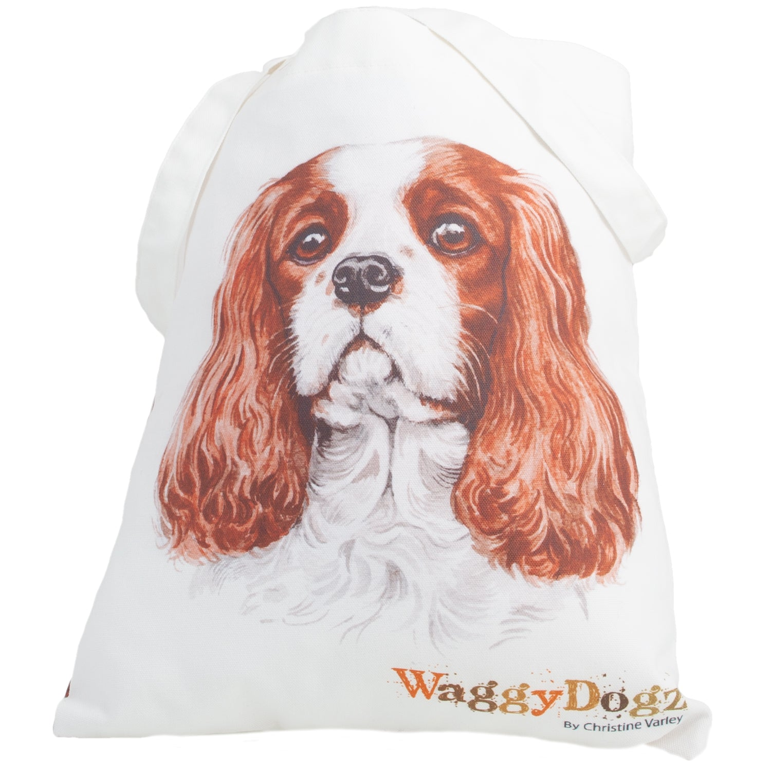Dog Lover Gifts available at Dog Krazy Gifts. Cavalier King Charles Tote Bag, part of our Christine Varley collection – available at www.dogkrazygifts.co.uk