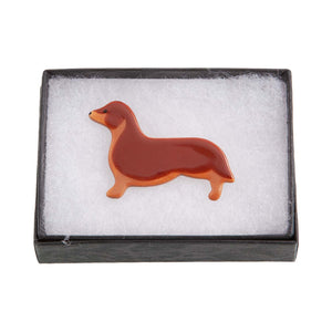 Dog Lover Gifts available at Dog Krazy Gifts – Ceramic Chocolate Labrador Brooch by Mary Goldberg of Stockwell Ceramics, Just Part Of Our Collection Of Dachshund Themed Gifts, Available At www.dogkrazygifts.co.uk