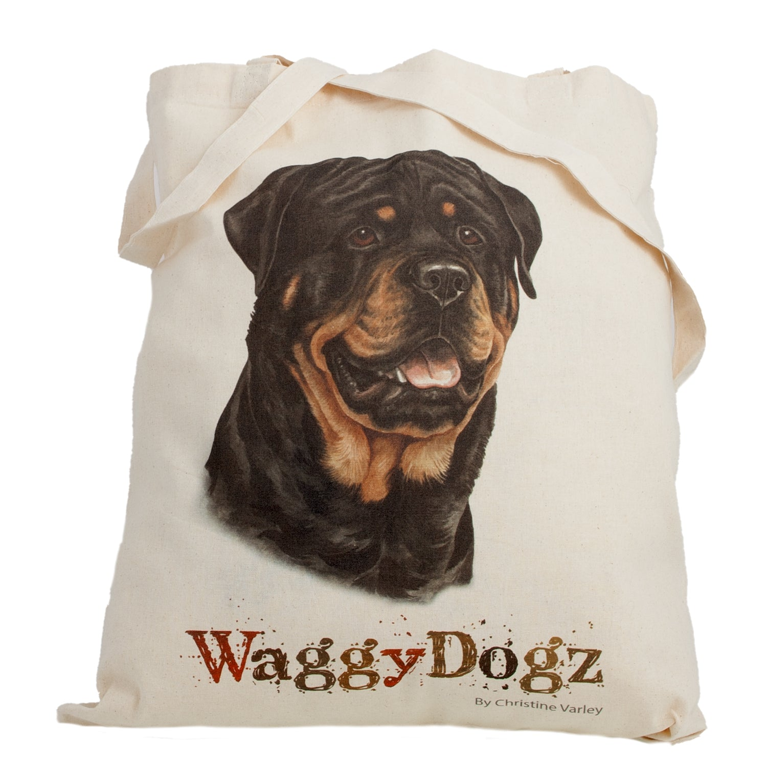 Dog Lover Gifts available at Dog Krazy Gifts. Rottweiler Tote Bag, part of our Christine Varley collection – available at www.dogkrazygifts.co.uk