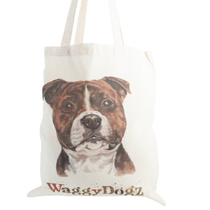 Dog Lover Gifts available at Dog Krazy Gifts. Staffie Tote Bag, part of our Christine Varley collection – available at www.dogkrazygifts.co.uk