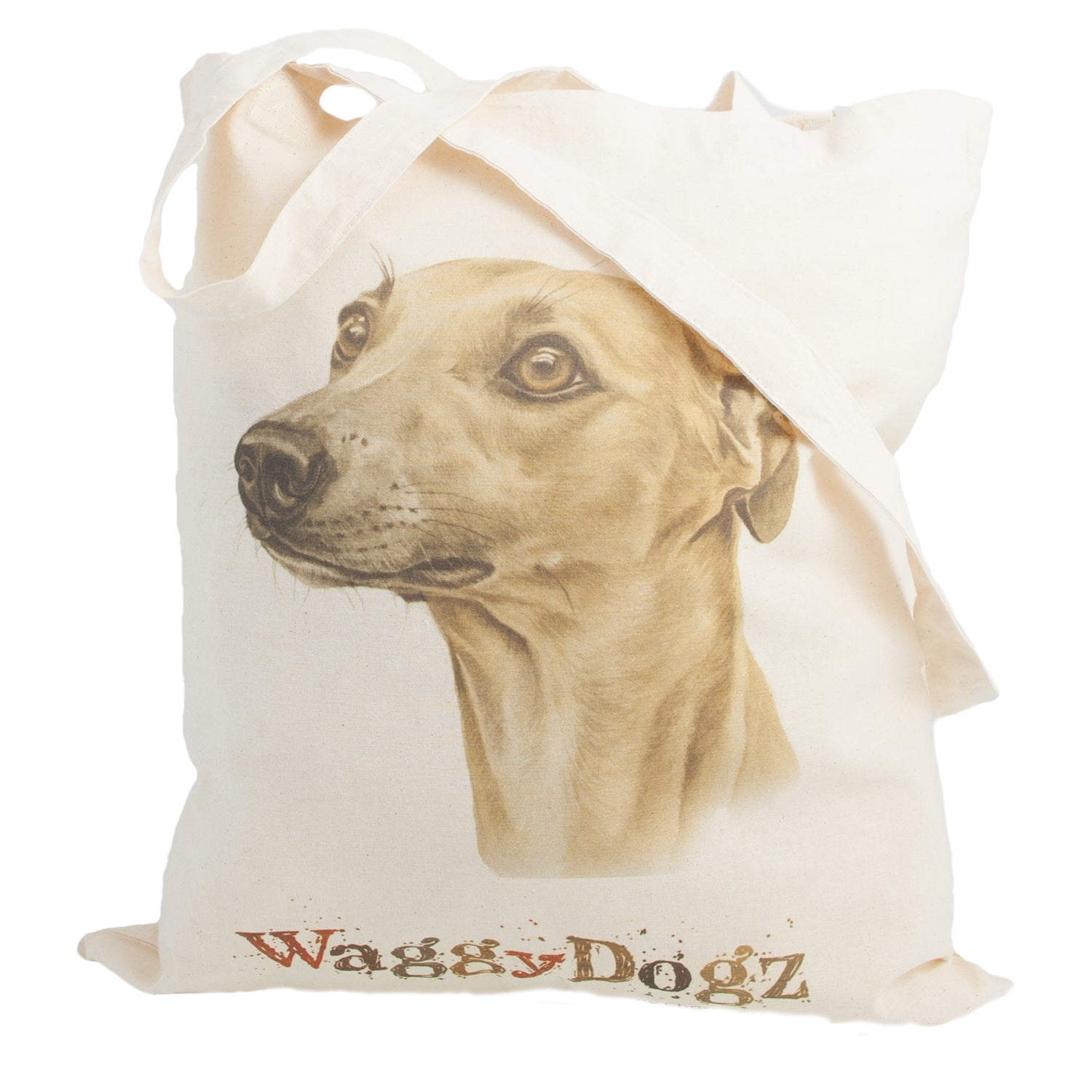 Dog Lover Gifts available at Dog Krazy Gifts. Fawn Whippet Tote Bag, part of our Christine Varley collection – available at www.dogkrazygifts.co.uk