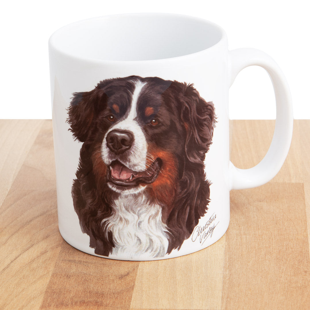 Dog Lover Gifts available at Dog Krazy Gifts Bernese Mountain Dog mug, part of our Christine Varley collection – available at www.dogkrazygifts.co.uk