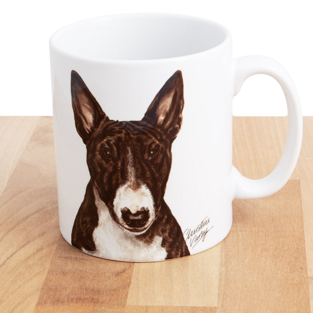 Dog Lover Gifts available at Dog Krazy Gifts - Brindle English Bull Terrier, part of our Christine Varley collection – available at www.dogkrazygifts.co.uk