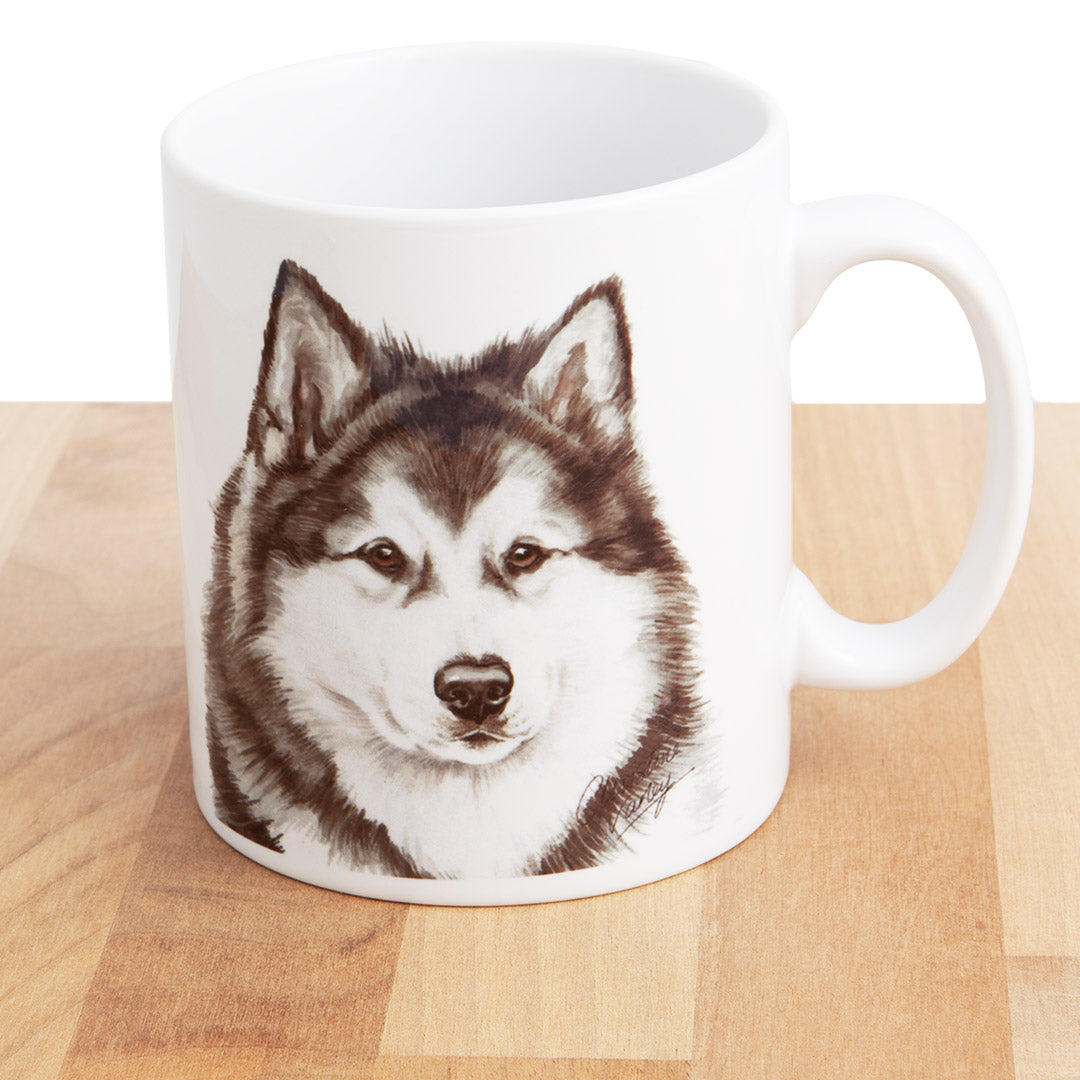 Dog Lover Gifts available at Dog Krazy Gifts Alaskan Malamute mug, part of our Christine Varley collection – available at www.dogkrazygifts.co.uk