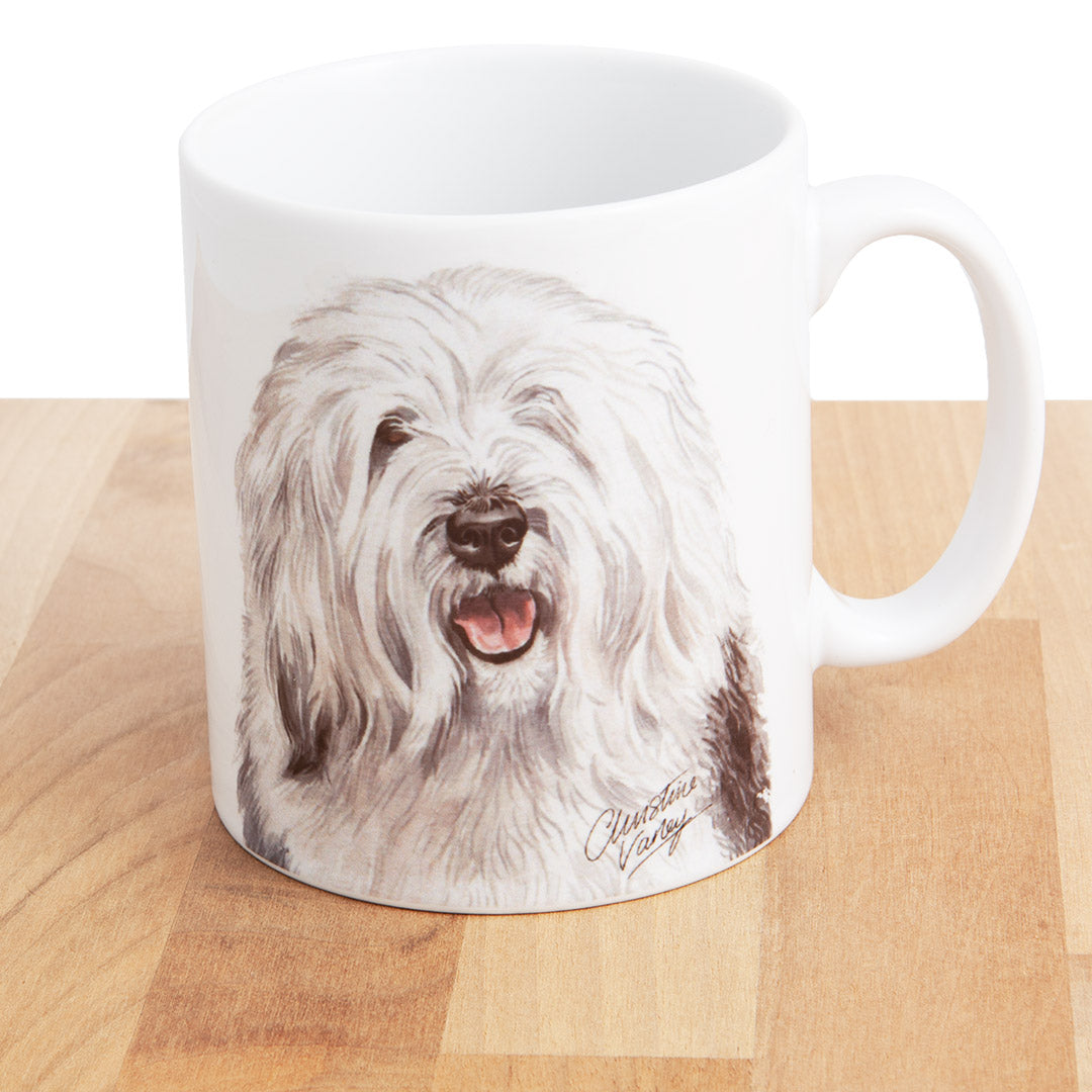 Dog Lover Gifts available at Dog Krazy Gifts - Old English Sheep Dog Mug, part of our Christine Varley collection – available at www.dogkrazygifts.co.uk