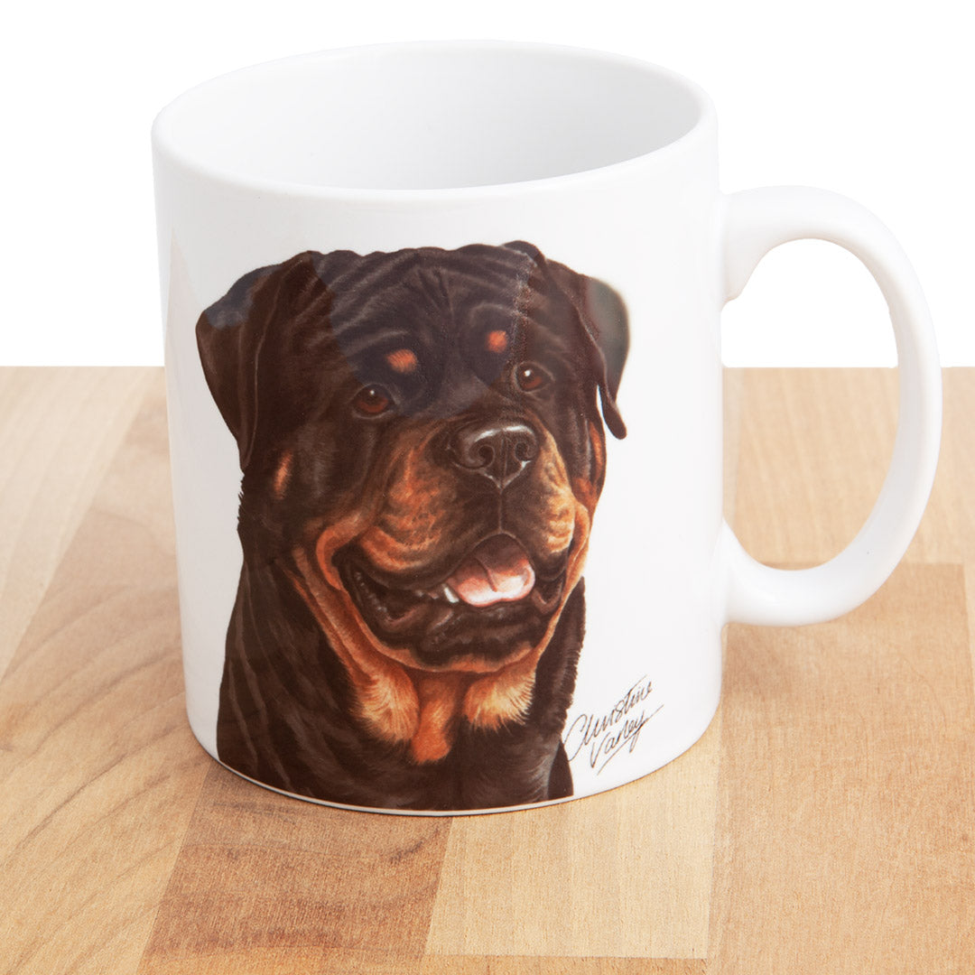 Dog Lover Gifts available at Dog Krazy Gifts - Rottweiler Mug, part of our Christine Varley collection – available at www.dogkrazygifts.co.uk