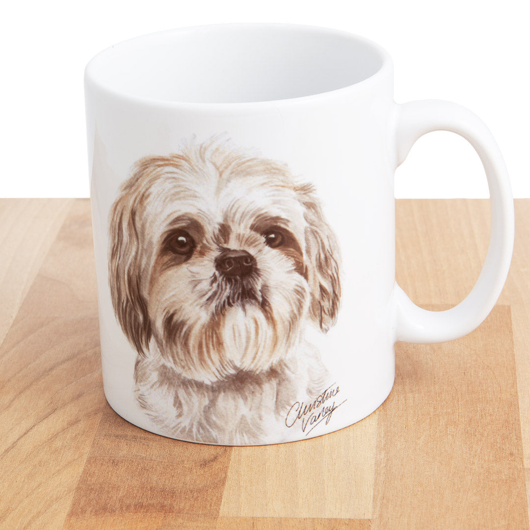 Dog Lover Gifts available at Dog Krazy Gifts - Cream Shih Tzu Mug, part of our Christine Varley collection – available at www.dogkrazygifts.co.uk