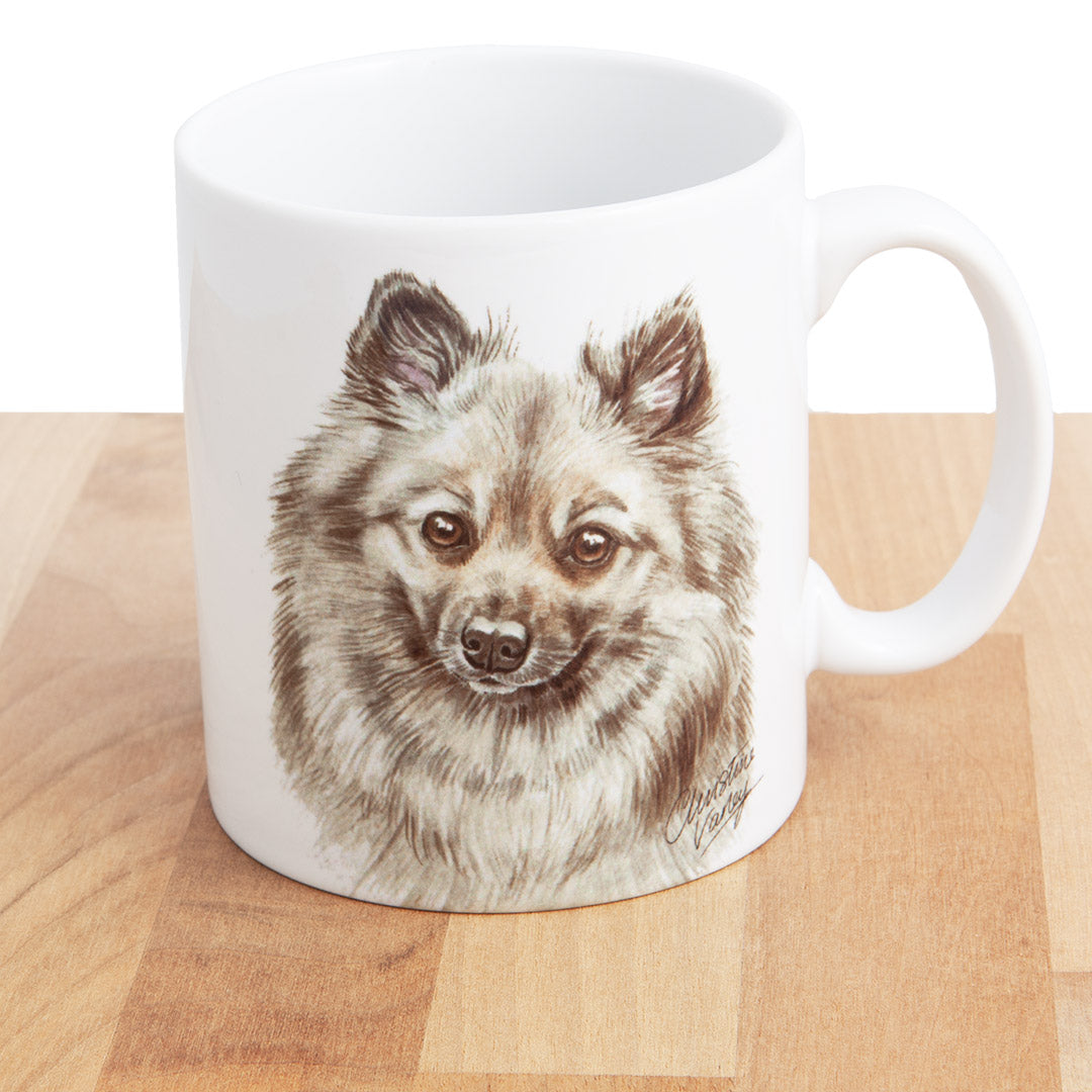 Dog Lover Gifts available at Dog Krazy Gifts - German Spitz Mug, part of our Christine Varley collection – available at www.dogkrazygifts.co.uk