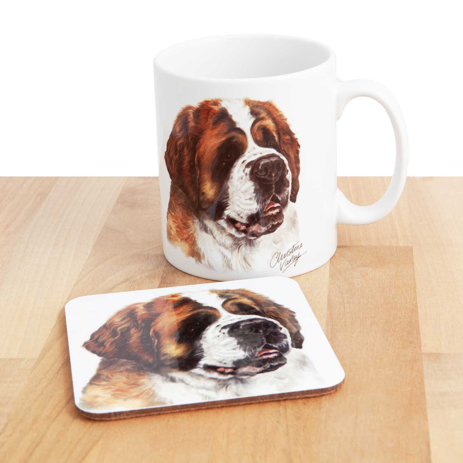 Dog Lover Gifts available at Dog Krazy Gifts - St.Bernard Mug, part of our Christine Varley collection – available at www.dogkrazygifts.co.uk