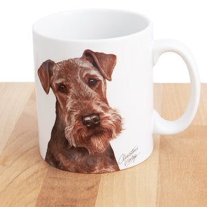 Dog Lover Gifts available at Dog Krazy Gifts Airedale Mug and Coaster set, part of our Christine Varley collection – available at www.dogkrazygifts.co.uk