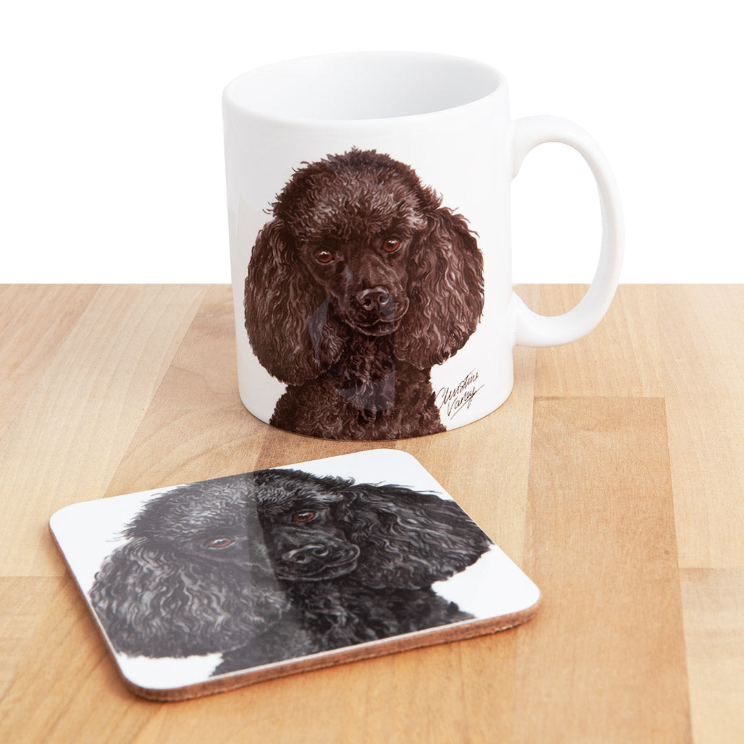 Dog Lover Gifts available at Dog Krazy Gifts - Miniature Poodle Mug and Coaster set, part of our Christine Varley collection – available at www.dogkrazygifts.co.uk