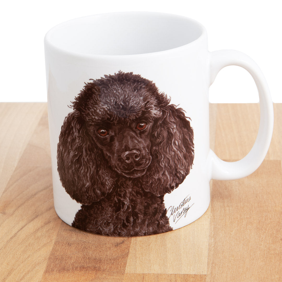Dog Lover Gifts available at Dog Krazy Gifts - Miniature Poodle Mug, part of our Christine Varley collection – available at www.dogkrazygifts.co.uk