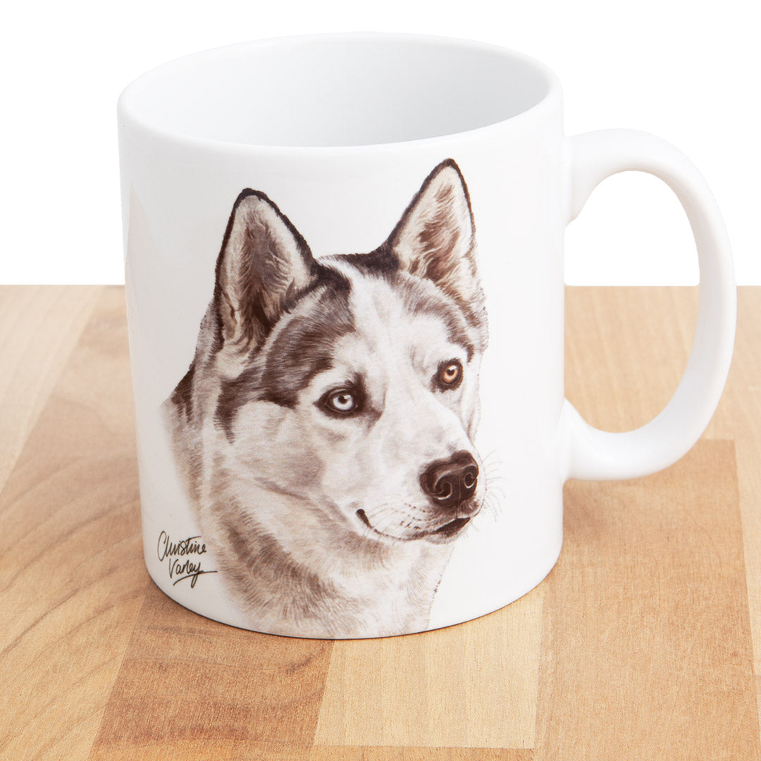 Dog Lover Gifts available at Dog Krazy Gifts - Husky Mug, part of our Christine Varley collection – available at www.dogkrazygifts.co.uk