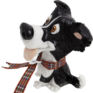 Dog Lover Gifts available at Dog Krazy Gifts - Gyp The Border Collie - part of the Little Paws range available from DogKrazyGifts.co.uk
