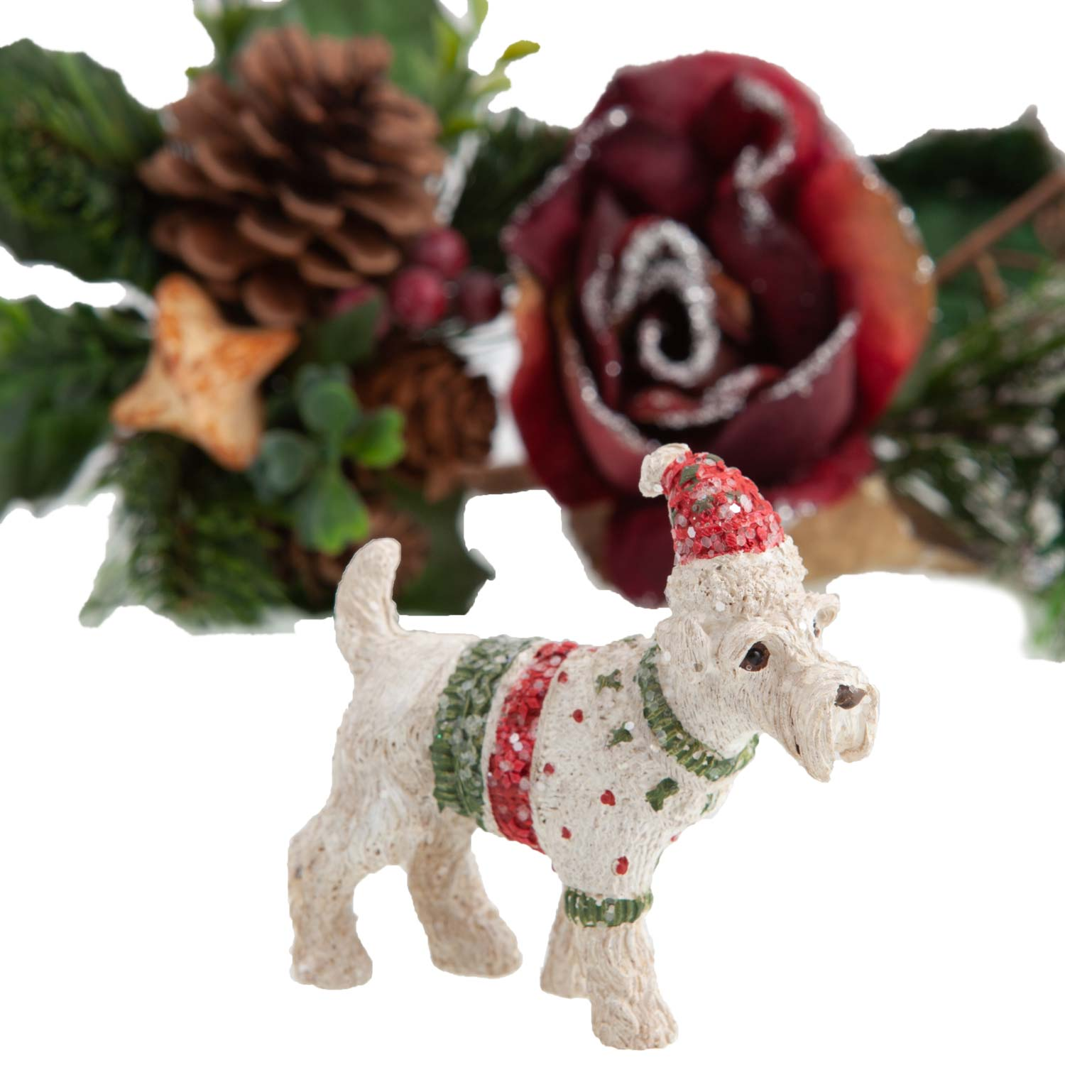 Dog Krazy Gifts - Schnauzer in Christmas Jumper Decoration - available from the Christmas Grotto at DogKrazyGifts.co.uk