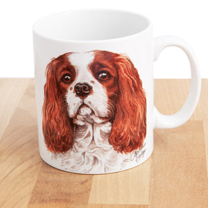 Dog Lover Gifts available at Dog Krazy Gifts - Cavalier King Charles Mug and Coaster set, part of our Christine Varley collection – available at www.dogkrazygifts.co.uk