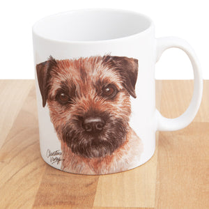Dog Lover Gifts available at Dog Krazy Gifts Border Terrier Mug and Coaster set, part of our Christine Varley collection – available at www.dogkrazygifts.co.uk