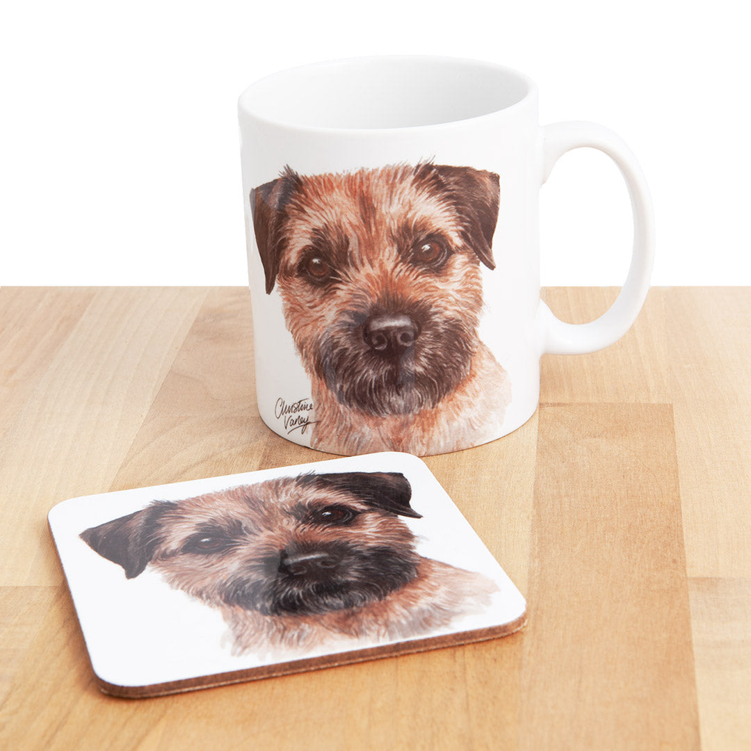 Border Terrier Waggy Dogz Mug and Coaster