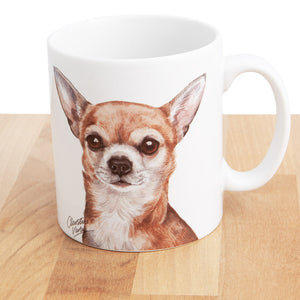 Dog Lover Gifts available at Dog Krazy Gifts - Chihuahua Mug and Coaster set, part of our Christine Varley collection – available at www.dogkrazygifts.co.uk