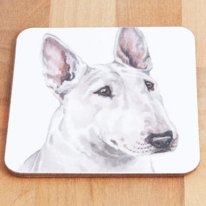 Dog Lover Gifts available at Dog Krazy Gifts - English Bull Terrier Mug and Coaster set, part of our Christine Varley collection – available at www.dogkrazygifts.co.uk