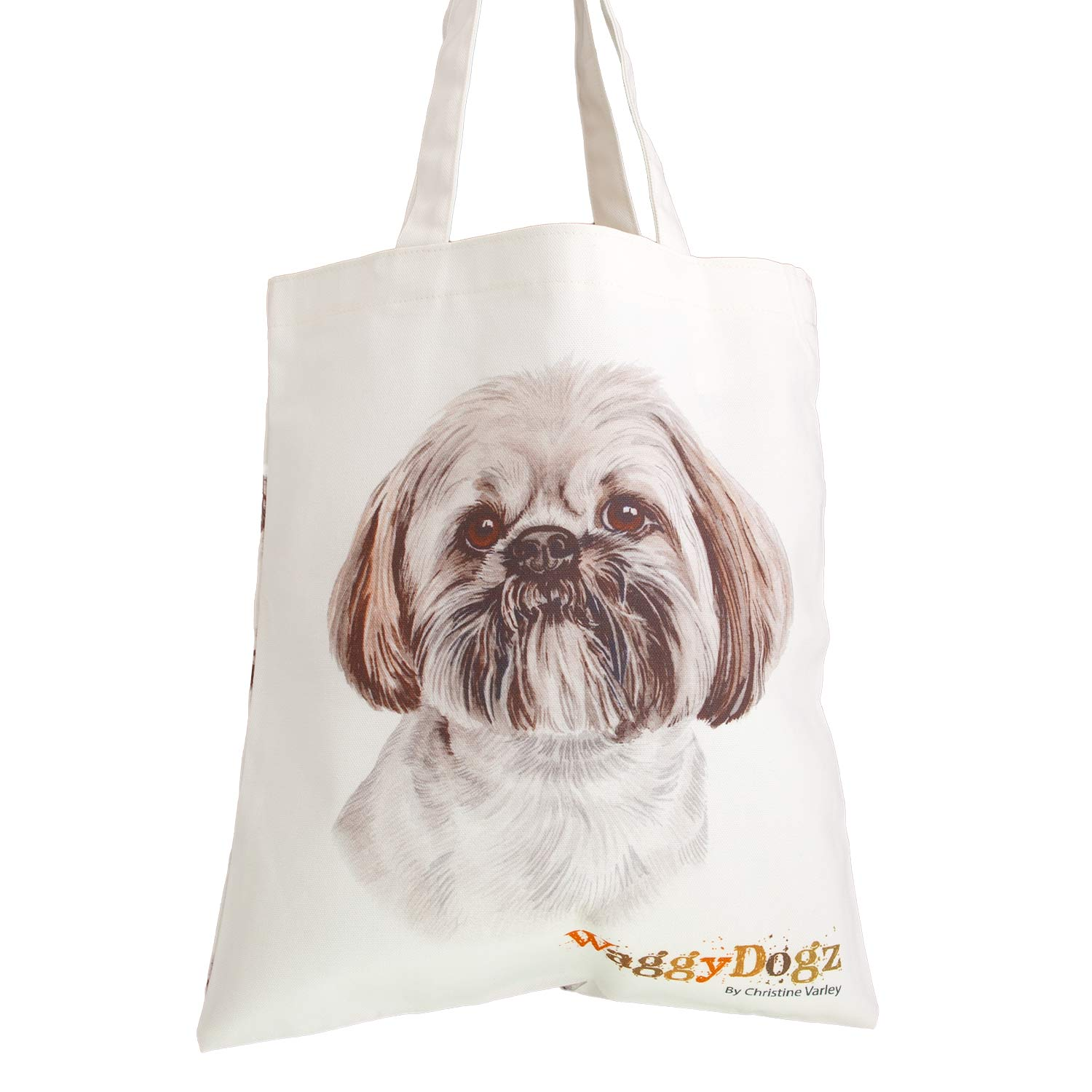 Dog Lover Gifts available at Dog Krazy Gifts. Lhasa Apso Bag, part of our Christine Varley collection – available at www.dogkrazygifts.co.uk A Double Sided organic Cotton Tote bag featuring a painting of a Lhasa Apso Dog by Christine Varley, made and printed in Great Britain