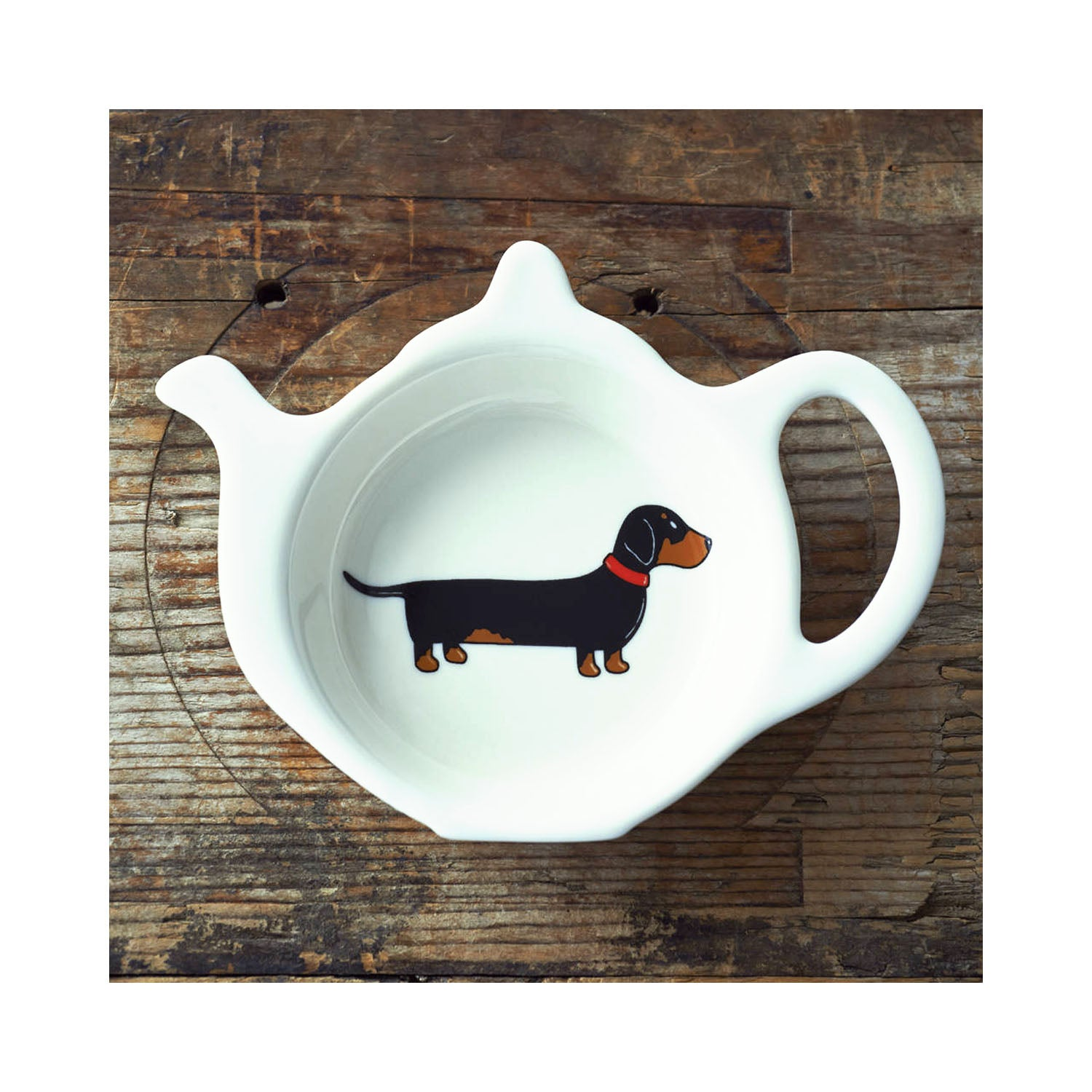 Dog Lover Gifts available at Dog Krazy Gifts - Florence The Dachshund Teabag Dish - part of the Sweet William range available from Dog Krazy Gifts