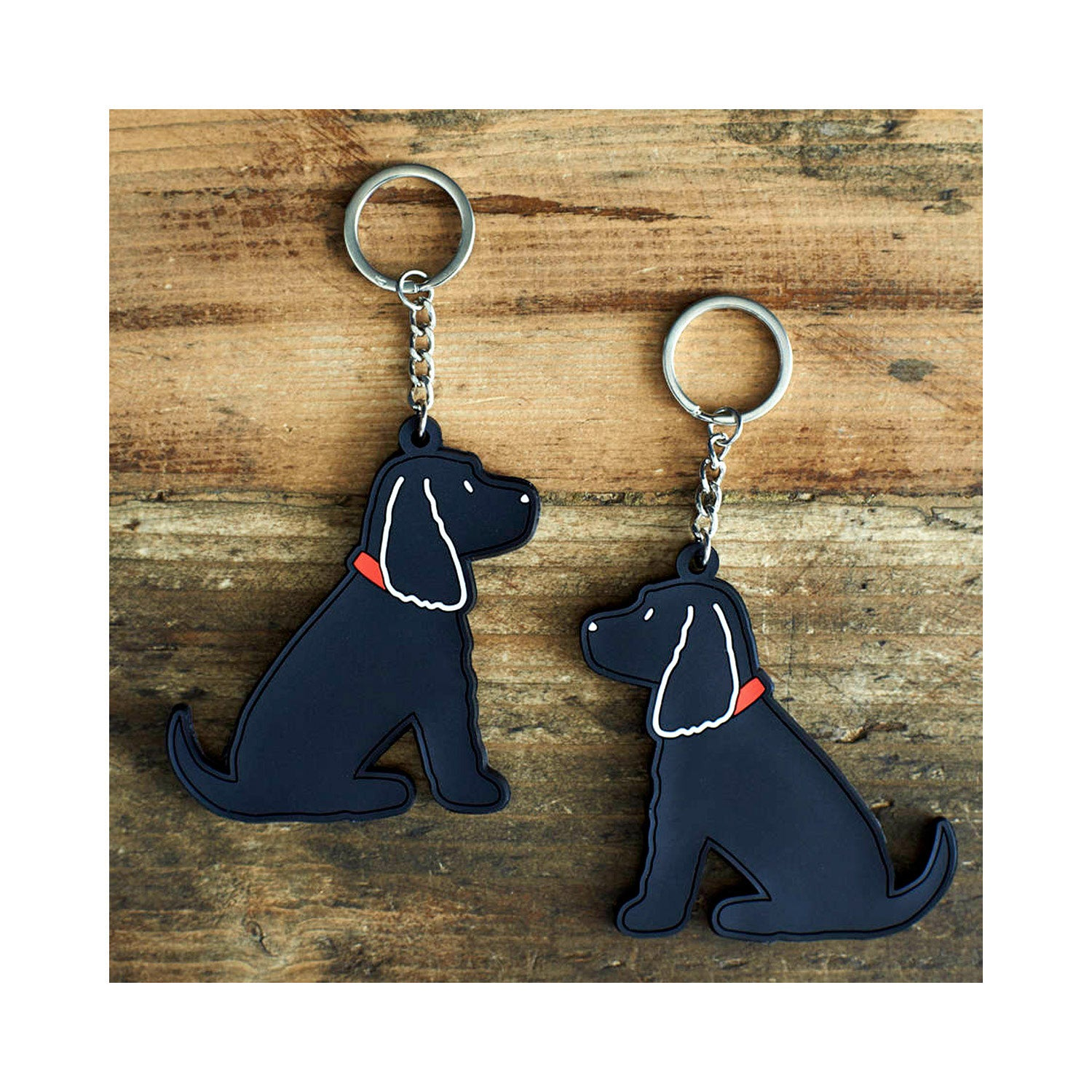 Dog Lover Gifts available at Dog Krazy Gifts  - Hugo The Black Cocker Spaniel Keyring - part of the Sweet William range available from Dog Krazy Gifts