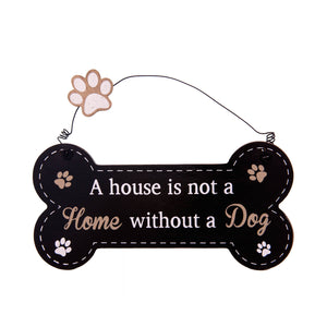 DogKrazyGifts - Doggie Pals Hanging Bone - A house is not a Home without a Dog. - part of the range of Dog Themed Signs available from Dog Krazy Gifts