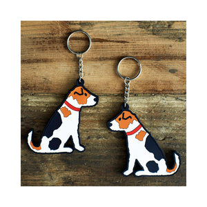 Dog Lover Gifts available at Dog Krazy Gifts - Alfie The Jack Russell Keyring - part of the Sweet William range available from Dog Krazy Gifts