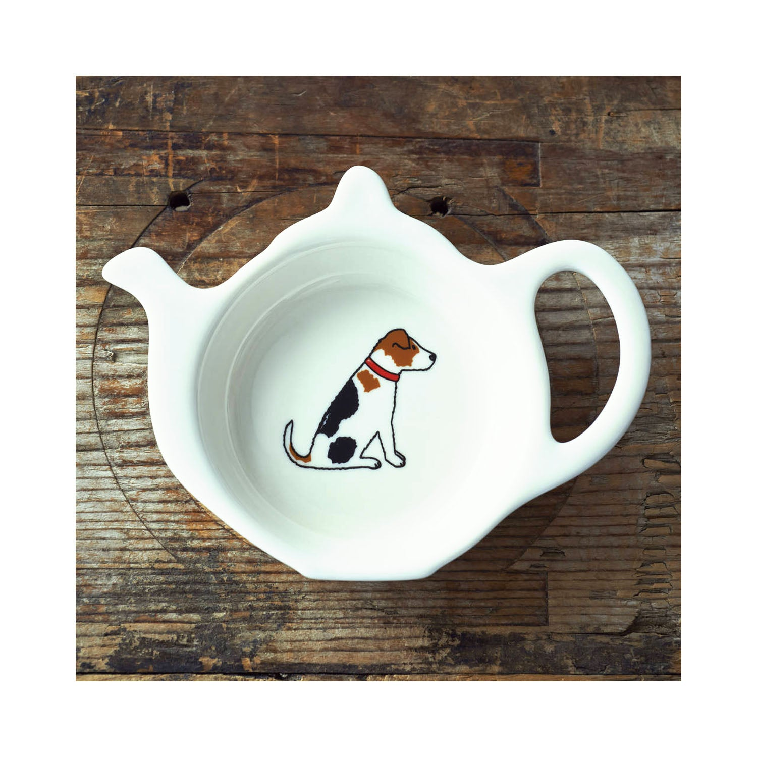 Dog Lover Gifts available at Dog Krazy Gifts - Alfie The Jack Russell Teabag Dish - part of the Sweet William range available from Dog Krazy Gifts
