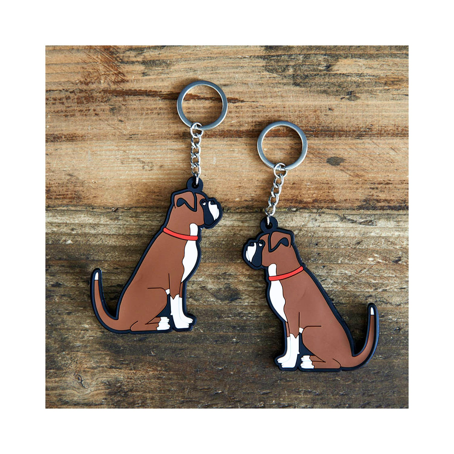Dog Lover Gifts available at Dog Krazy Gifts - Archie The Boxer Dog Keyring - part of the Sweet William range available from Dog Krazy Gifts