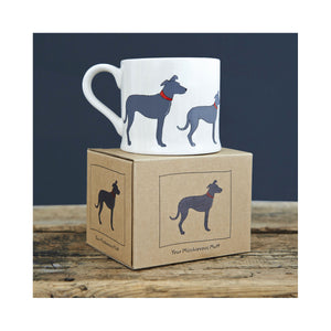Dog Lover Gifts available at Dog Krazy Gifts - Arthur The Lurcher Mug by Sweet William - part of the Lurcher collection of Dog Lovers Gifts available from Dog Krazy Gifts