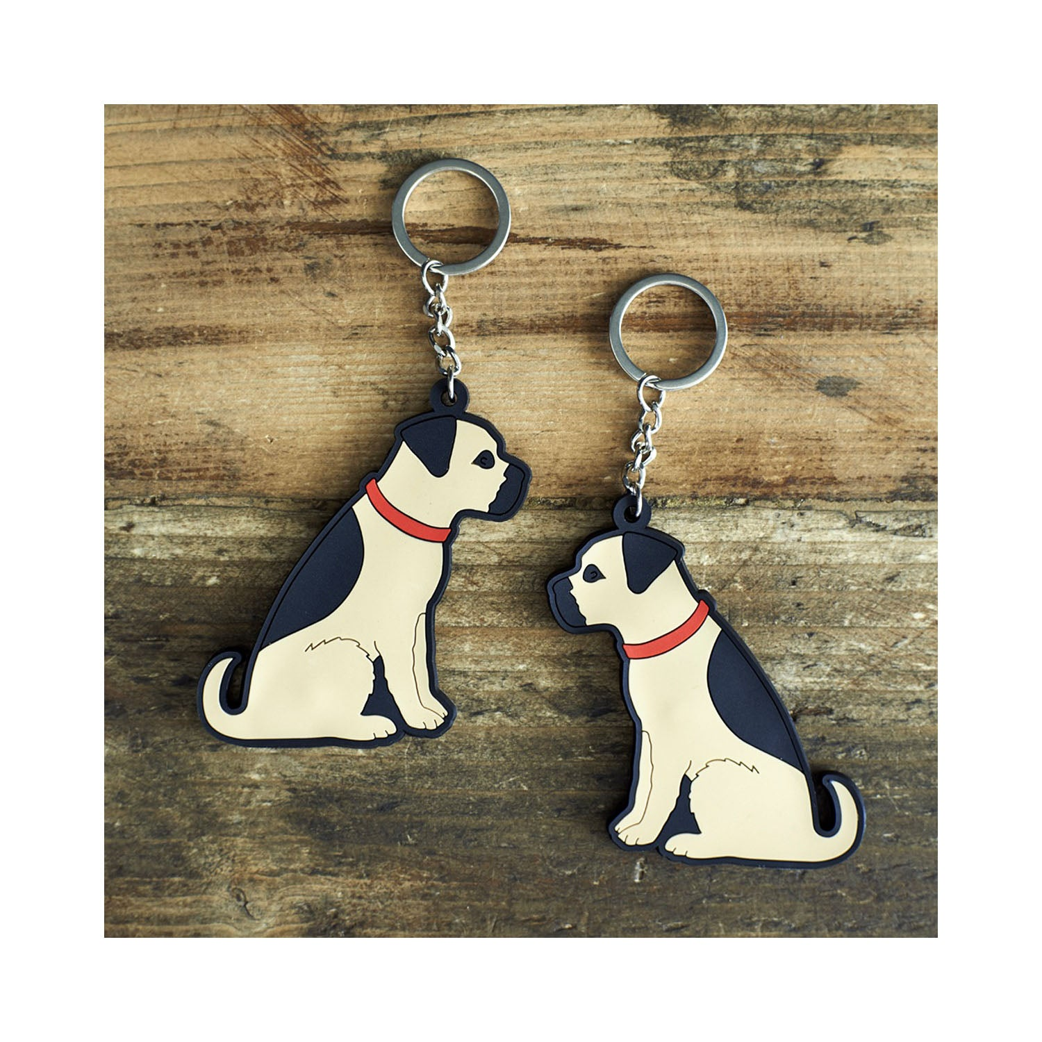 Dog Lover Gifts available at Dog Krazy Gifts - Bertie The Border Terrier Keyring - part of the Sweet William range of gifts for dog lovers available from Dog Krazy Gifts