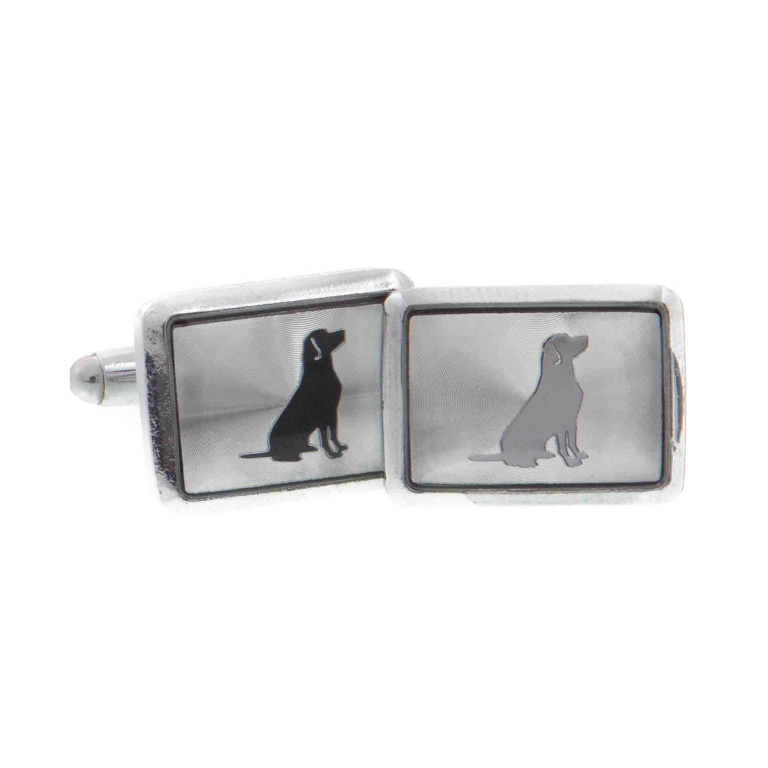 Dog Lover Gifts available at Dog Krazy Gifts - Black Dog Cufflinks, part of the range of Labrador themed gifts available from DogKrazyGifts.co.uk