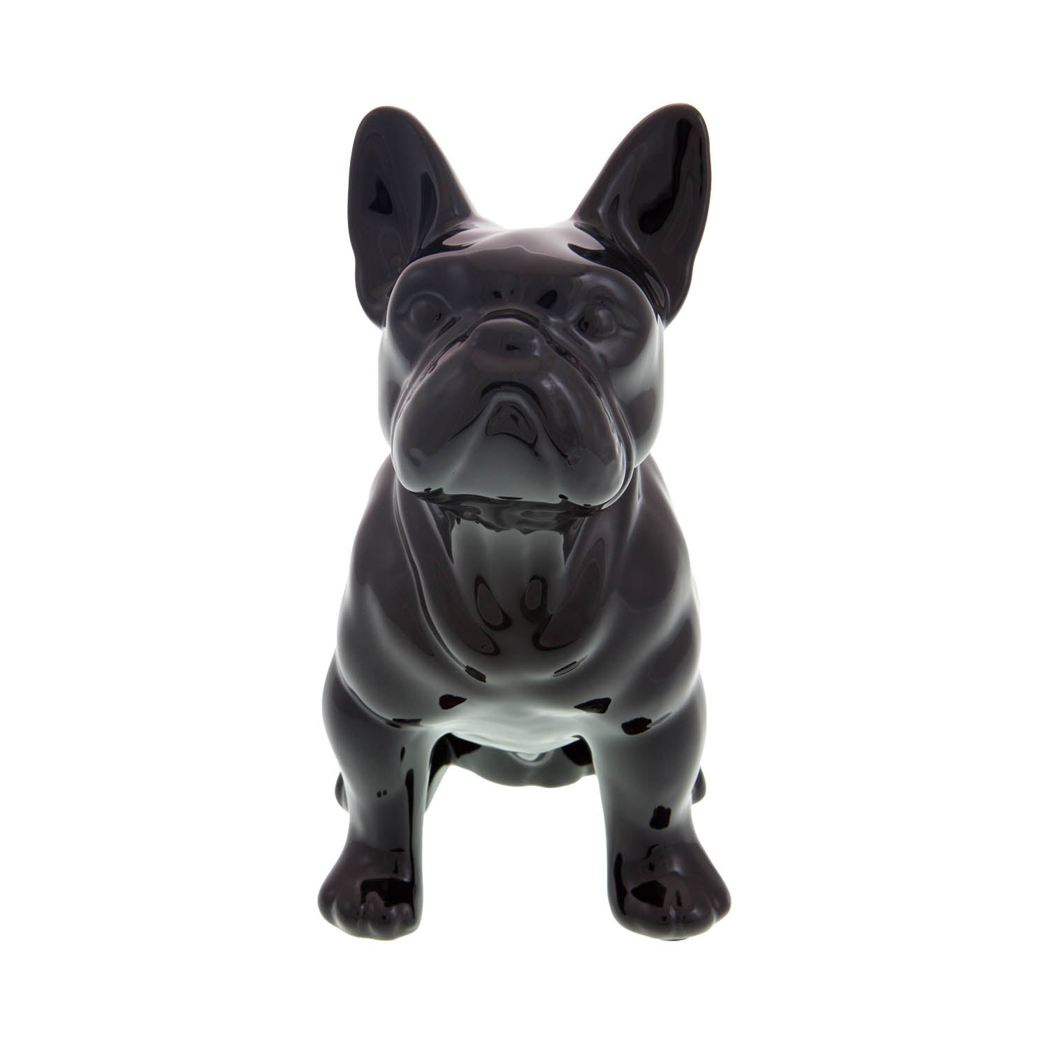 Dog Krazy Gifts – Black French Bulldog Money Box – High gloss ceramic part of the French Bulldog Range available from DogKrazyGifts.co.uk