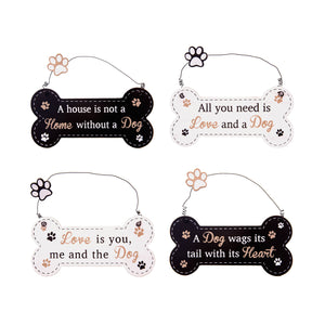 DogKrazyGifts - Doggie Pals Hanging Bone Collection - part of the range of Dog Themed Signs available from Dog Krazy Gifts