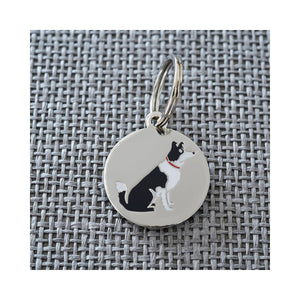 Dog Lover Gifts available at Dog Krazy Gifts - Lola The Border Collie Cufflink and Dog Tag Set - part of the Sweet William range available from Dog Krazy Gifts