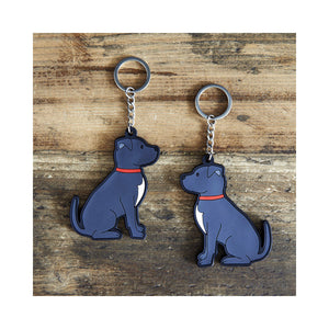 Dog Lover Gifts available at Dog Krazy Gifts - Bree The Staffordshire Bull Terrier Keyring - part of the Sweet William range available from Dog Krazy Gifts