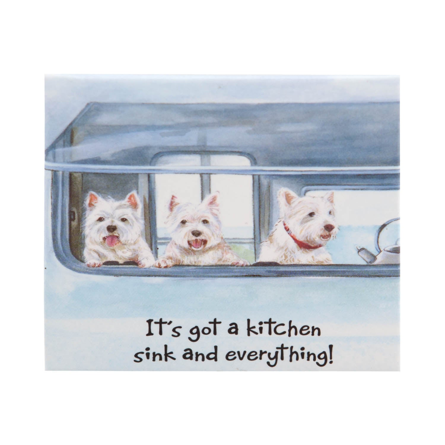 DogKrazyGifts - Westies Go Caravanning magnet, part of the West Highland Terrier range from Dog Krazy Gifts