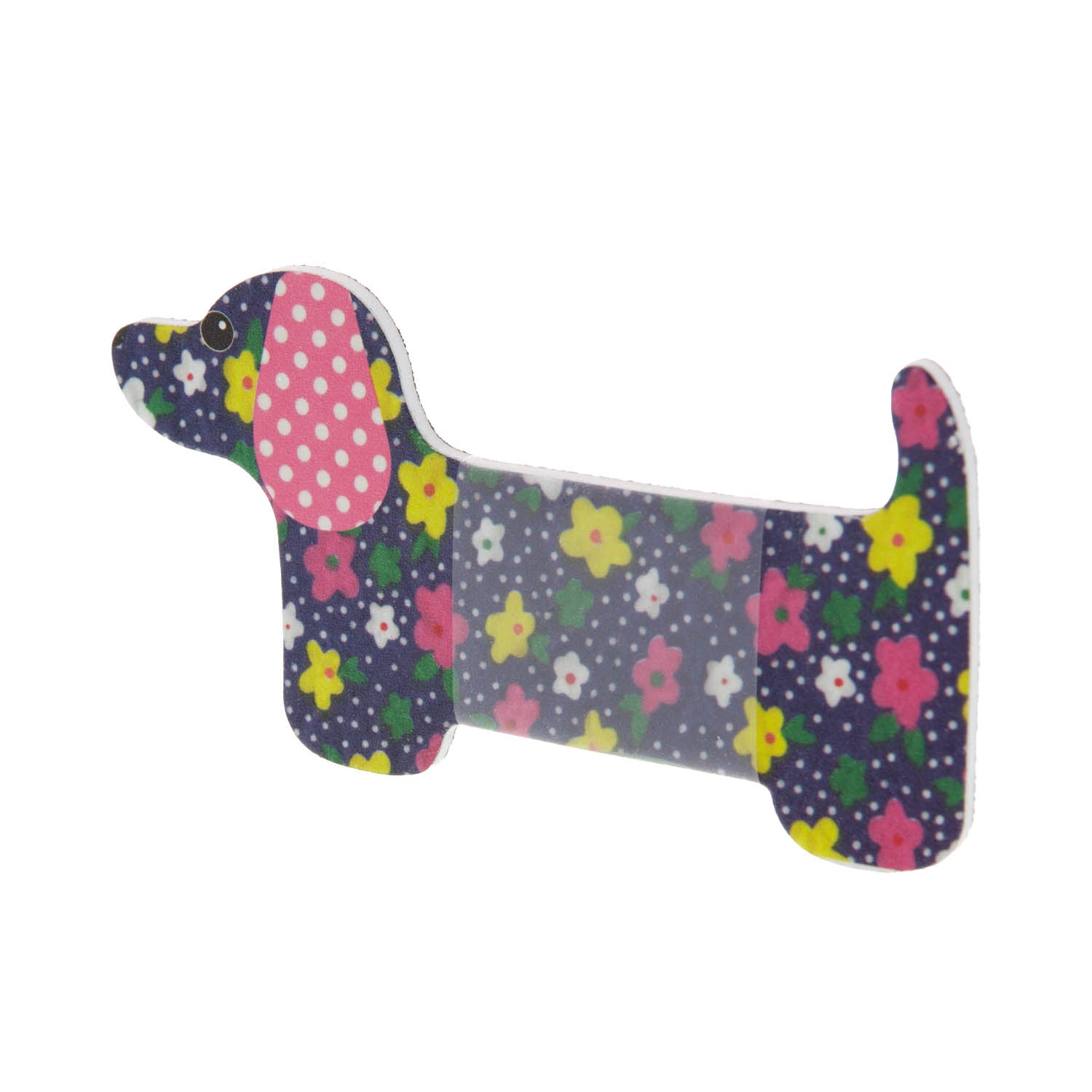 Dog Krazy Gifts - Dachshund Nail File - Floral Navy, part of the range of Dachshund themed gifts available from DogKrazyGifts.co.uk