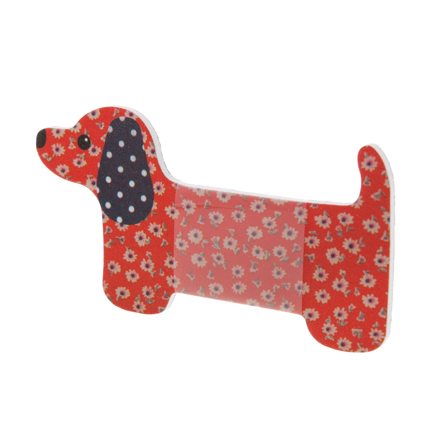Dog Krazy Gifts - Dachshund Nail File - Orange Daisy, part of the range of Dachshund themed gifts available from DogKrazyGifts.co.uk