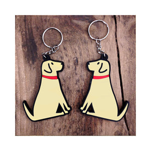 Dog Lover Gifts available at Dog Krazy Gifts - Daisy The Yellow Labrador Keyring - part of the Sweet William range available from Dog Krazy Gifts