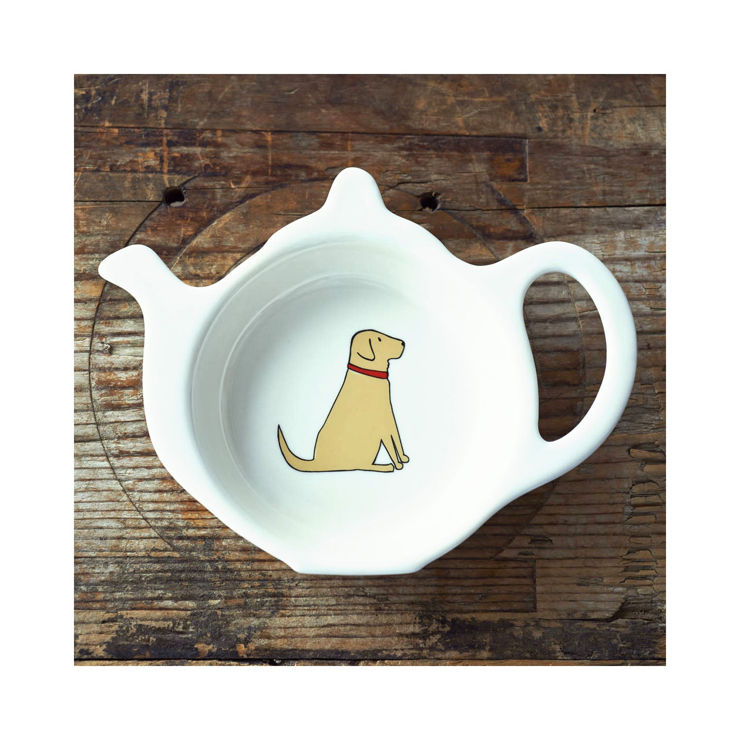 Dog Lover Gifts available at Dog Krazy Gifts - Daisy The Yellow Labrador Teabag Dish - part of the Sweet William range available from Dog Krazy Gifts