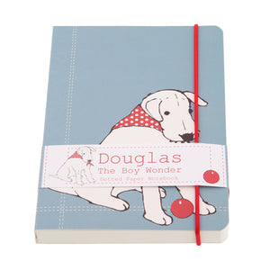 DogKrazyGifts - Douglas The Boy Wonder A5 notebook - part of the Little Dog Range available from Dog Krazy Gifts