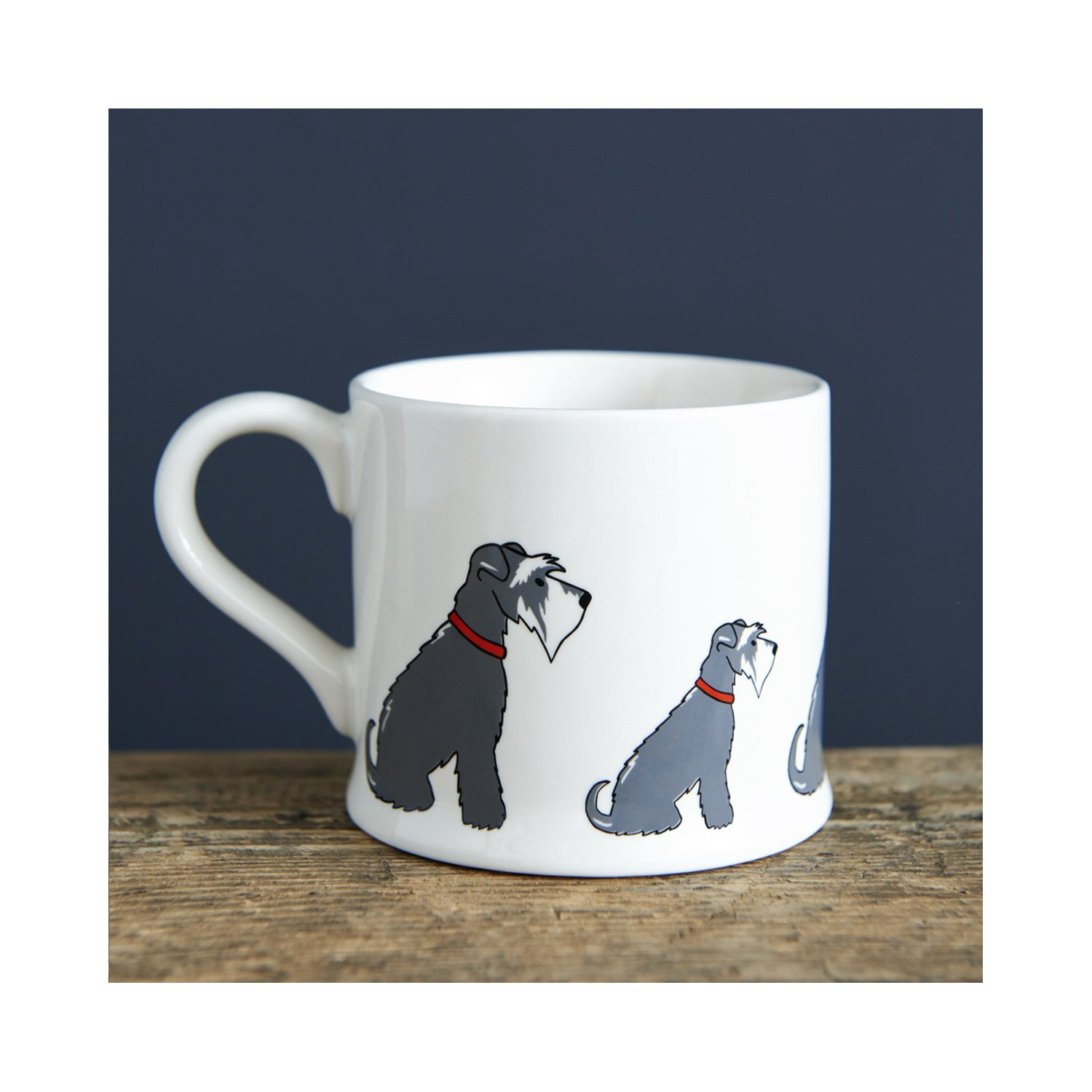 Dog Lover Gifts available at Dog Krazy Gifts- Eddie The Grey & White Schnauzer Mug - part of the Sweet William range available from Dog Krazy Gifts