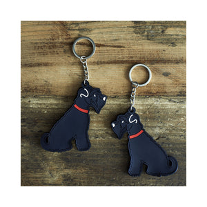 Dog Lover Gifts available at Dog Krazy Gifts - Ernie The Black Schnauzer Keyring - part of the Sweet William range of gifts for dog lovers available from Dog Krazy Gifts